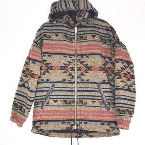 Forever 21 Aztec Tribal Hooded Coat NWT Medium